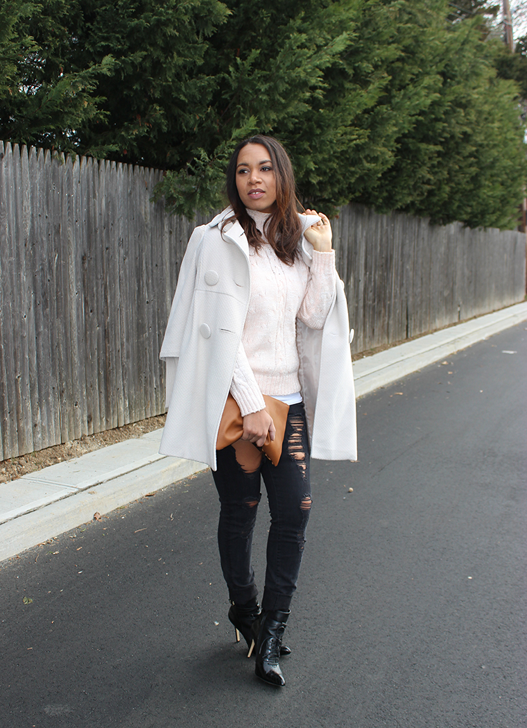 Shades of Neutral, Neutral shades, Light pink, Cream, whites, winter white, The Way To My Hart, Jessica Hart, Forever 21, Banana Republic, Armani Exchange, Altuzarra x Target, leopard clutch, cotton on